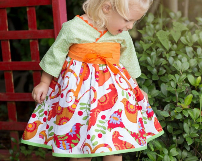 Featured listing image: Twirl Dress - Girls Spring Dress - Birthday Outfit - Toddler Girl Clothes - Teen Preteen Dress - Little Girls Dress  - 12 mos to 14 yrs