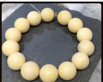 50% Mega Sale Yellow Jade Gemstone Bracelet