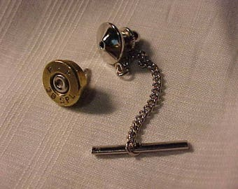 Bullet Tie Tack 38 Special Recycled Repurposed