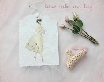 Sea Coral Ballerina - Luxe Tutu Art Tags