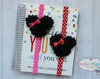 Mouse ears Planner band { Magic Mouse } mouse ears, red, pink or red polka dot planner girl accessories bible band, baby headband