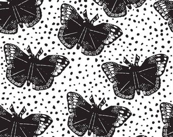 Dotted Butterfly Fabric - Dotted Butterflies Bliss Design Studio By Blissdesignstudio - Butterfly Cotton Fabric By The Yard With Spoonflower