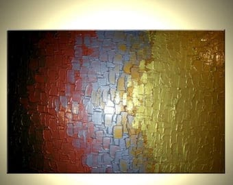 Metallic Abstract Original Painting by Lafferty Art Sale 22% Off