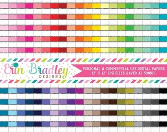 80% OFF SALE Silver Glitter Stripes Digital Paper Pack Bundle Set of 40 Digital Papers Personal & Commercial Use OK
