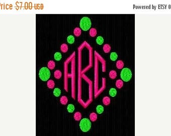 SALE 65% OFF Diamond Polka Dot Machine Embroidery Monogram Fonts Designs Instant Download Sale