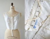 Franklin Simon & Co. camisole   1910s Edwardian lingerie   lace 1910s corset cover