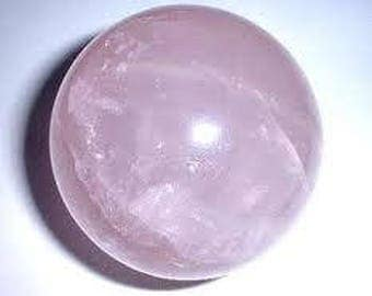 AA Quality Translucent Deep Pink Rose Quartz Baby Sphere for Love and Life Force