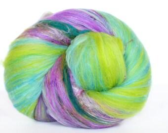Swamp Lily 3.6 oz  Wool - Merino // Art Batt // Wool Art Batt for spinning or needle felting