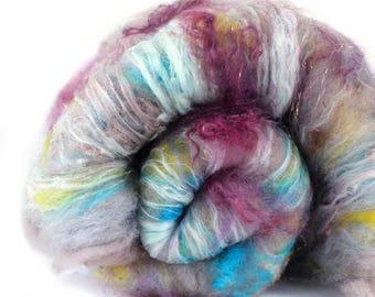 Suede 2.4 oz  Wool - Merino // Art Batt // Wool Art Batt for spinning or needle felting