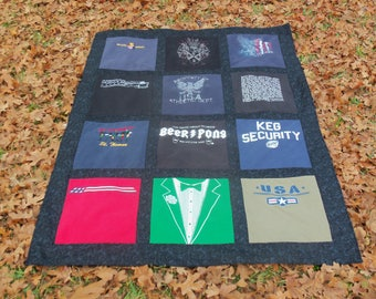 Tshirt Quilt for your Loved One