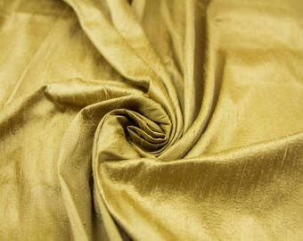 Raw silk Dupioni fabric Silk Fabric Gold Raw silk Shantung silk Dress fabric  Curtain fabric cushion cover fabric  uk seller