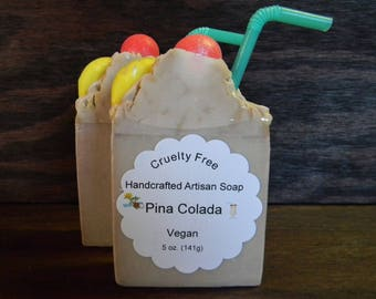 Pina Colada - Vegan - Cold Process - Scented (Phthalate Free) - Handcrafted - Artisan Soap