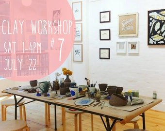 Clay Workshop #7 - Ticket for ONE spot in this DELUXE Ceramic Workshop with afternoon tea