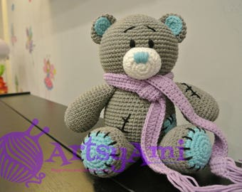 Handmade Crochet Amigurumi - Grey Bear