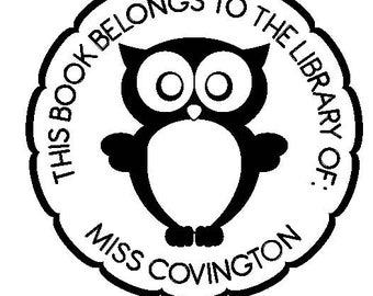 Owl - Library of Personalized Custom Rubber Stamp - book plate