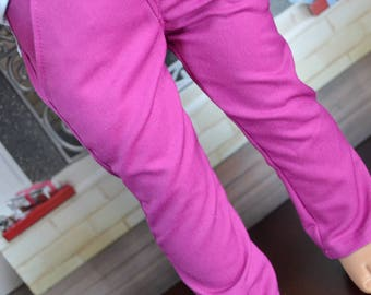 18 inch Doll Clothes - Fuschia Chinos - Trouser Pants - Pink Magenta -  for BOY or GIRL - fit American Girl