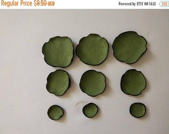 40% OFF SALE DIE Cut leather flowers. Jewelry supplies leather petals. Cabochon flowers