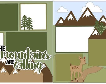 The Mountains are Calling 2-page 12x12 do-it-yourself scrapbook kit