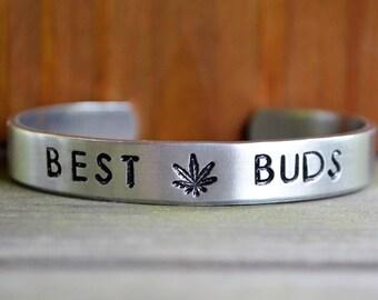 Best Buds Bracelet - Marijuana Jewelry - Cannabis Bracelet - Pot Head - Pot Smoker - Stoner Jewelry - Gifts for Stoners - Gifts for Potheads