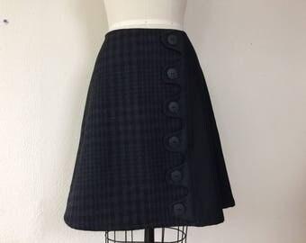 Kirsten wool asymmetrical a-line skirt Sz 6