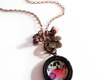 25% Off - Summer SALE Bloom - Original handmade necklace - brass jewelry