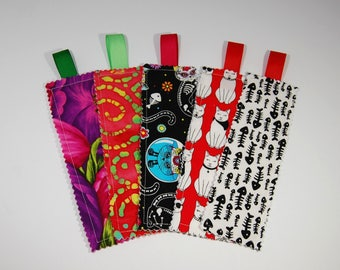Book Marks - Set of 5 - 100% Cotton