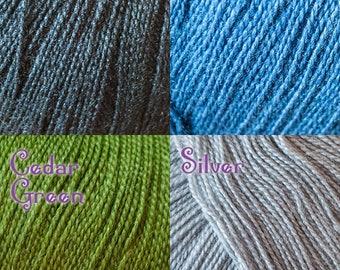 Cascade Forest Hills Fingering Weight Silk/Wool Blend Yarn