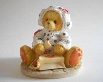 Cherished Teddies Andy You Have A Special Place In My Heart Vintage 1996 Resin Bear Figurine Dalmation Costume Enesco Priscilla Hillman