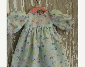 ONSALE Pretty Pastel Vintage Handmade Doll Dress 080