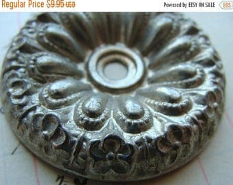 ONSALE One Exquisite Salvaged Ornate Vintage Chandelier ceiling Medallion Hardware for Assemblage and Jewelry