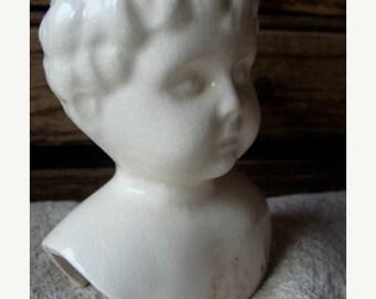 ONSALE Antique German Bisque Doll Head/ Bust 1930s