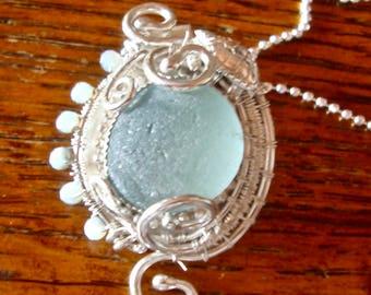 Sea Glass Turtle Pendant