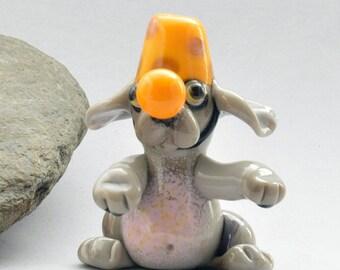 CIRCUS Dog,  Lampwork Dog Bead,   Glass Sculpture Collectible, Focal Bead, Pendant, Izzybeads SRA