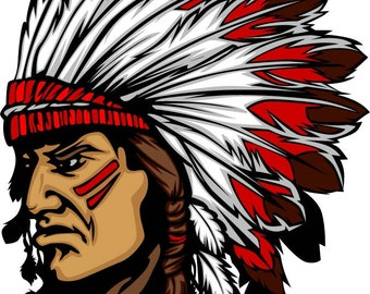 Indian chief Machine Embroidery Design