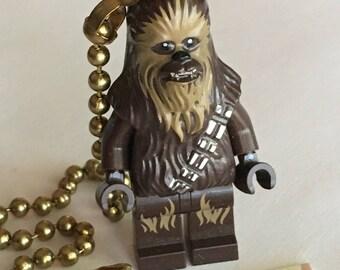 Lego Star Wars Fan Pull Chain Lego Chewbacca Fan Pull Lego Mini Fig Toy Boy's Room Decor Boy's Fan Pull Wookie Toy Lego Mini Figure Mini Fig