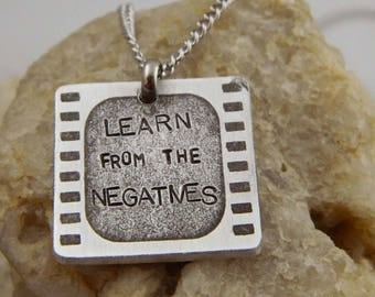 Learn from the Negatives Photography Necklace