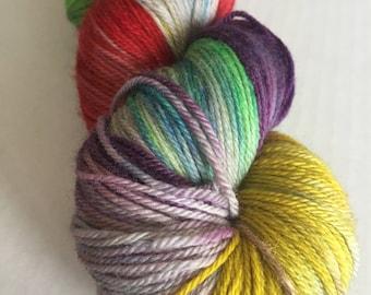 DESTASH: AYLM Gloomy Rainbow Merino 2-ply Sock Yarn