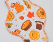 "10"" Moderate Cloth Pad, Minky Cloth Menstrual Pad, Thanksgiving Minky, Windpro Fleece, MotherMoonPads Day Pad, Light Incontinence Pad"