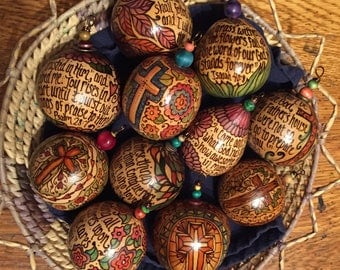 Medium Size Scripture Ornament