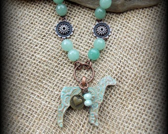 """Show Sheep, Lamb Kiln Fired Pottery Pendant,  Livestock Jewelry Bead/Chain  Necklace, Approx 28"""" (end to end)"""