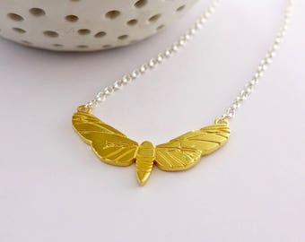 Gold  Butterfly Necklace, Butterfly Necklace, Gold Butterfly, Butterfly Jewellery, Gift for her, Gold Necklace, Butterfly, Minimalist
