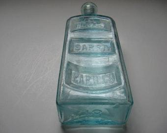 Hood's Sarsa Parilla, Apothecaries, ci hood, lowell mass, Antique Bottle, Medicine Bottle, Vintage Bottle, Old Bottle, Collectible