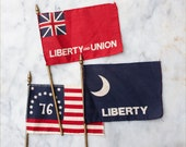 One Vintage Miniature Desk Flag / Flags of America / Your Choice