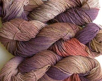 Little Cable, hand painted yarn, cotton, 225 yds - Pheasant