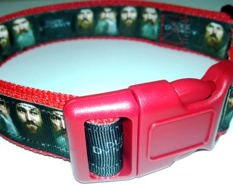 "Red Duck Dynasty Dog Collar-Large size 16"" to 25"" adjustable"