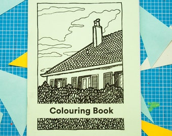 Colouring Book by Emma Falconer illustrated zine