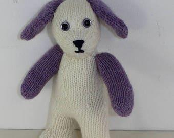 40% OFF SALE madmonkeyknits - Cute Cuddly Toy Puppy animal knitting pattern pdf download - Instant Digital File pdf knitting pattern