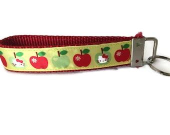 Hello Kitty Apple Keychain, Key fob, Wristlet