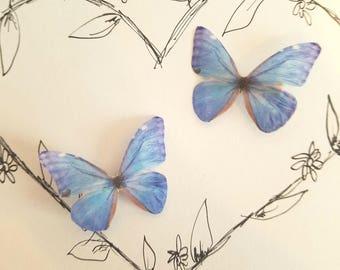 1 Pair Gossamer Butterfly Clips