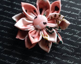Pretty in Pink Fabric Flower Hair Clip
